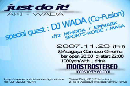 Just Do It! @ gamuso -AKI WADA- report
